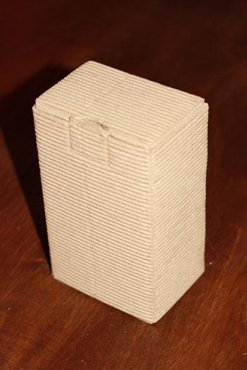 упаковка из картона, микрогофрокартона с открытой волной